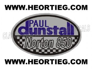 Paul Dunstall Norton 850 Tank and Fairing Transfer Decal DDUN9-4